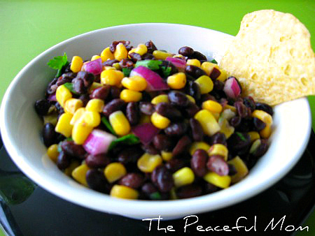 Black Bean and Corn Salsa Recipe - The Peaceful Mom
