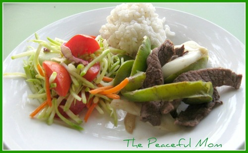 Steak and Peppers Dinner--The Peaceful Mom