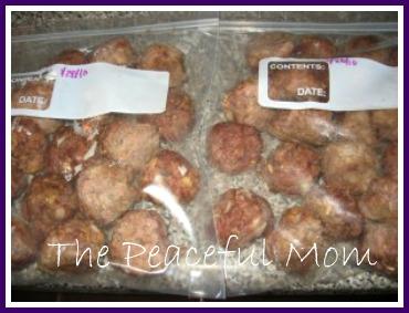 Easy Freeze Ahead Meatballs