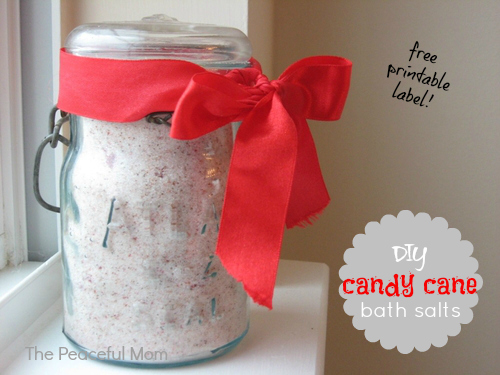 Stress Free Christmas Candy Cane Bath Salts The