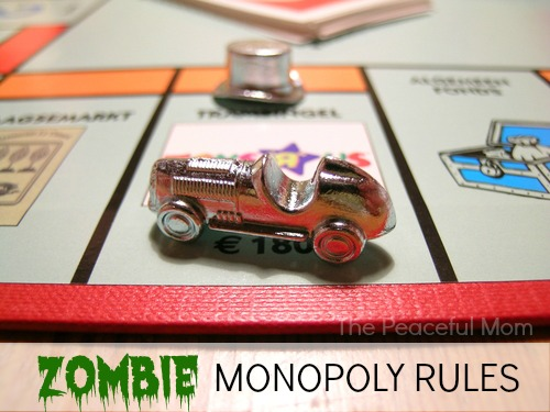 Zombie Monopoly Rules - The Peaceful Mom