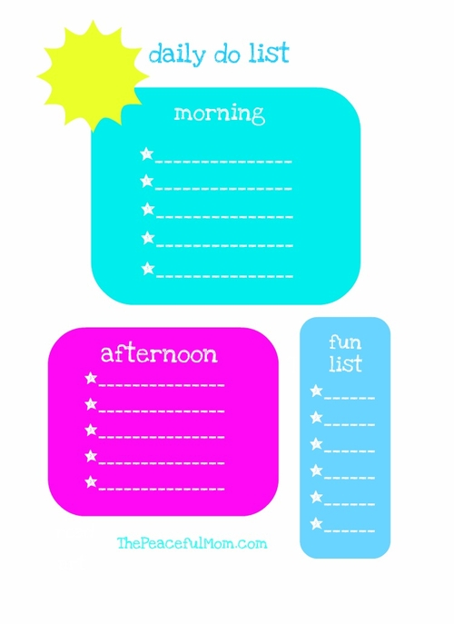 daily kid planner the peaceful mom