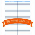 Free Printable Home School Reading List - from The Peaceful Mom -