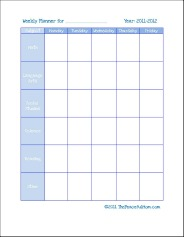 graphic relating to Free Printable Homeschool Planner known as Printable Homeschool Planners - The Relaxed Mother