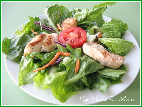 Easy Recipe: Salad with Italian Chicken (GF)