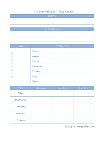 Free printable weekly blog planner the peaceful mom for To do planner online