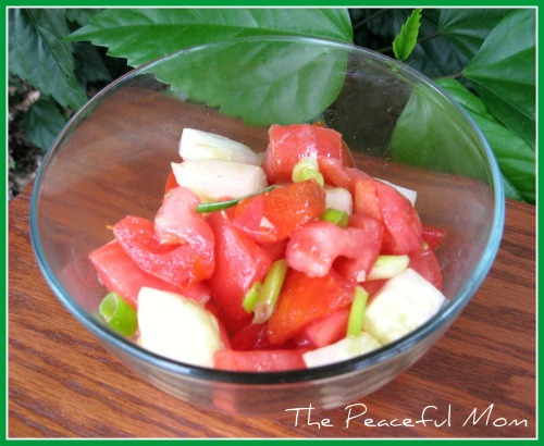 Simple Tomato Cucumber Salad (GF)