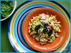 Ham and Spinach Pasta