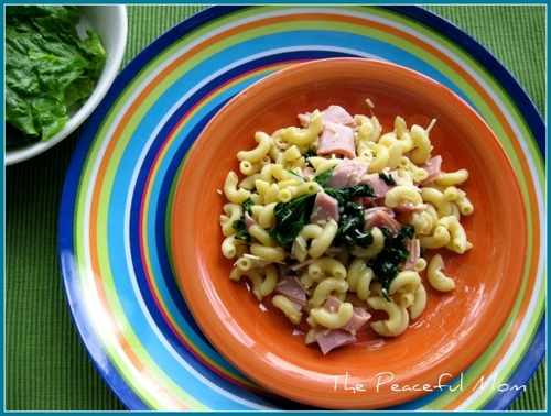 Ham and Spinach Pasta TPM 600