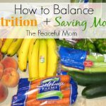 Nutrition & Saving Money
