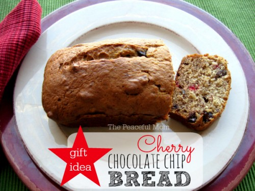 Simple DIY Gift Idea - Cherry Chocolate Chip Bread