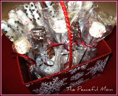 Gift Idea Diy Peppermint Hot Cocoa Stirrers The