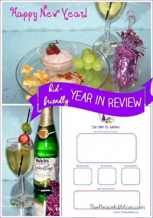 Kid Friendly New Year's Eve - Year in Review Printable - The Peaceful Mom
