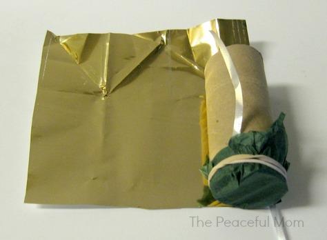Wrap tube in metallic paper 1