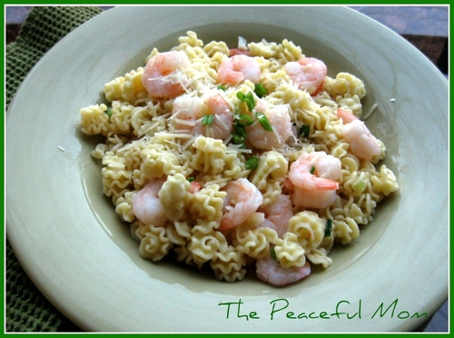 Garlic Shrimp Radiatore--The Peaceful Mom