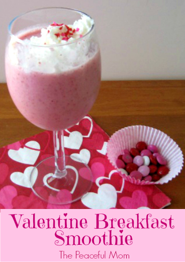 Valentine Breakfast Smoothie - The Peaceful Mom