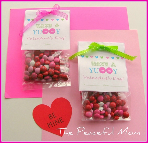 materials for one bag clear cellophane candy bag - Valentine Treat Bag Ideas