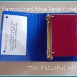 Make a Customized Bible Verse Notebook