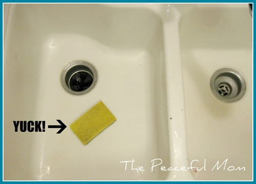 Tuesday {cleaning} Tip: DIY Kitchen Scrubbie - The Peaceful Mom