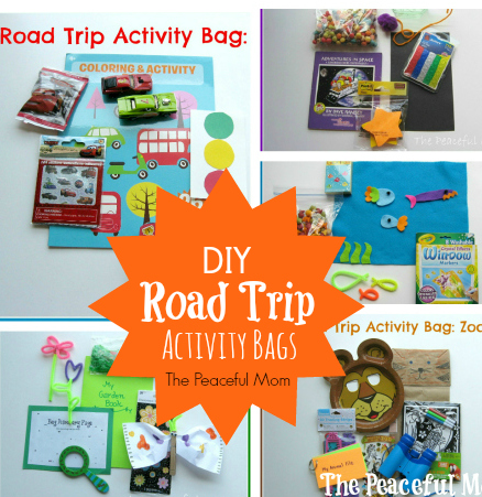 DIY Road Trip Activity Bags Collage - The Peaceful Mom