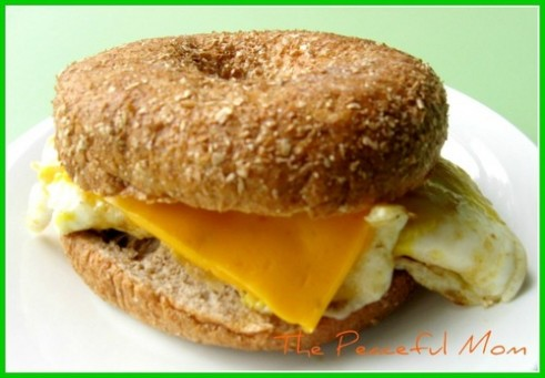 Egg and Cheese Bagel--The Peaceful Mom
