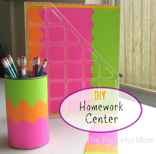 Back-to-School-DIY-Homework-Center-The-Peaceful-Mom