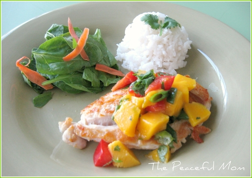 Mango Salsa Chicken--The Peaceful Mom