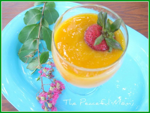 Peach Mango Smoothie--The Peaceful Mom