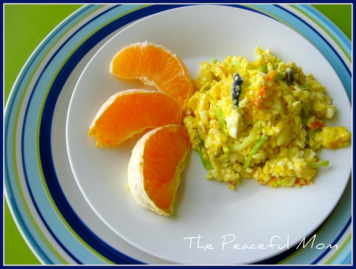 Veggie Breakfast Scramble--The Peaceful Mom