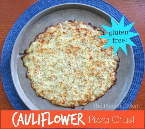 Gluten Free Cauliflower Pizza Crust - The Peaceful Mom