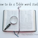 How to Do A Word Study