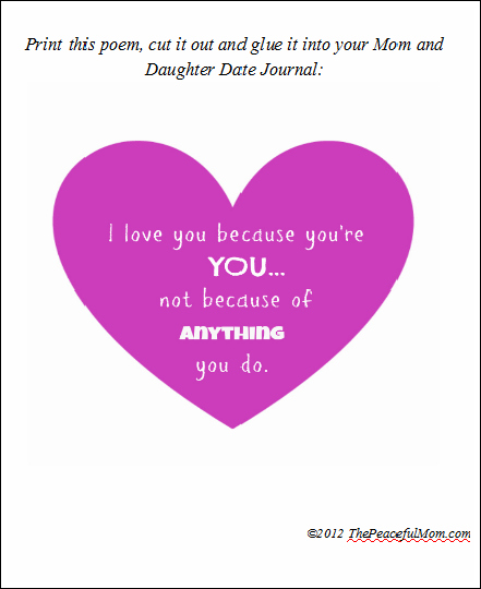 Diy Mom Daughter Date Journal With Free Printables