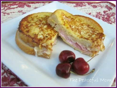 Monte Cristo Sandwich with Fontina Cheese from The-Peaceful-Mom