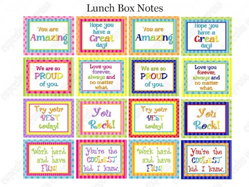 photograph about Printable Lunchbox Notes identify 25 Totally free Printable Lunch Notes! - The Comfortable Mother