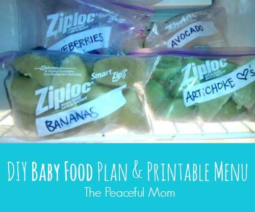 DIY Baby Food Plan and Printable Menu - The Peaceful Mom