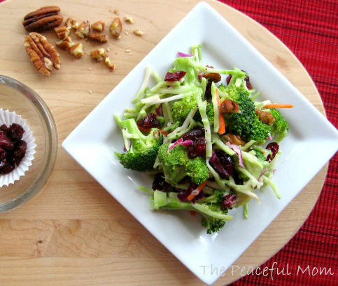 Broccoli Salad with Cranberries and Pecans
