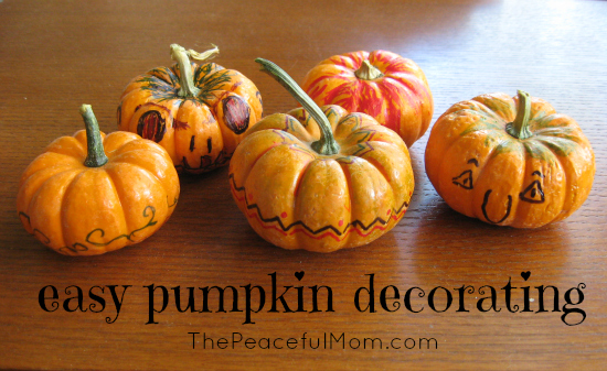 Pumpkin Decorating The Easy Way The Peaceful Mom