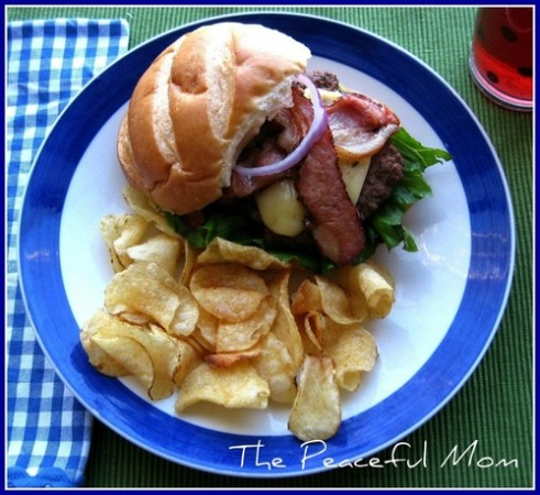 BBQ Pepper Jack Bacon Burger--The Peaceful Mom