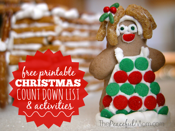 Free Printable Christmas Countdown Activities - The Peaceful Mom