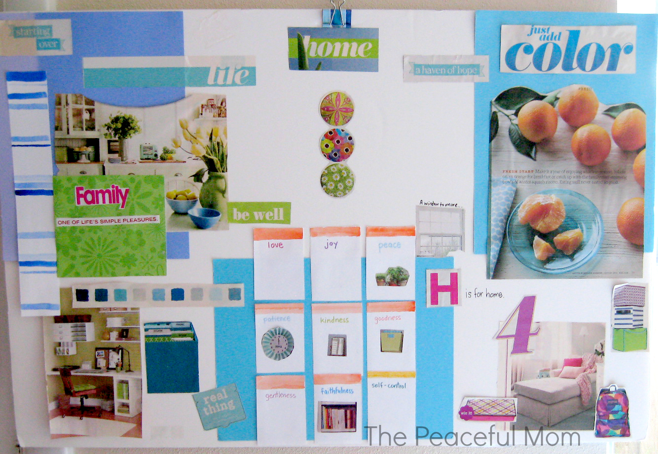 How to make an inspiration vision board the peaceful mom for Home design vision board