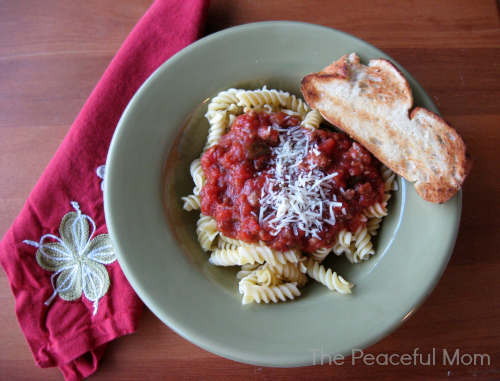 Pasta-with-Meat-Sauce-The-Peaceful-Mom