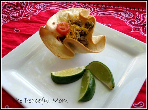 Taco Cups--The Peaceful Mom