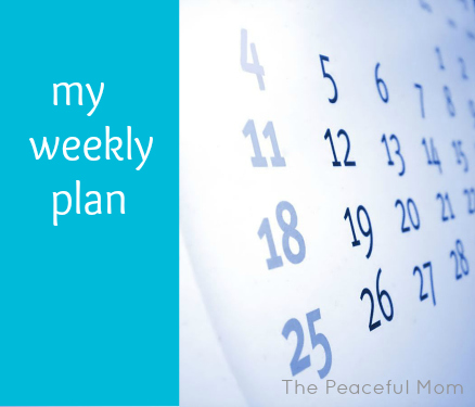 My Weekly Plan Button