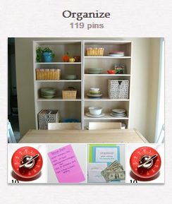 Organize Pin Board--The Peaceful Mom