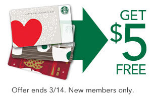 FREE $5 Starbucks Gift Card for New Rewards Members - The Peaceful Mom