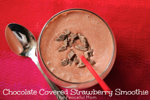 Chocolate Covered Strawberry Smoothie!