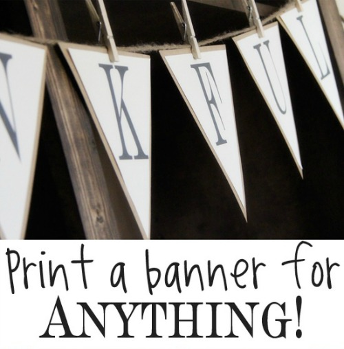 Witty image in large printable letters for banners