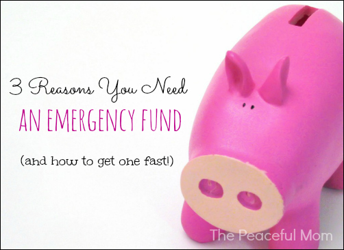 3 Reasons You Need An Emergency Fund--The Peaceful Mom