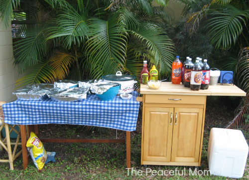 Grad Party Hot Dog Bar--The Peaceful Mom