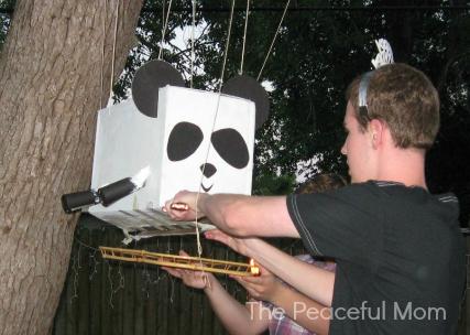 Taco Spewing Panda Pinata--The Peaceful Mom